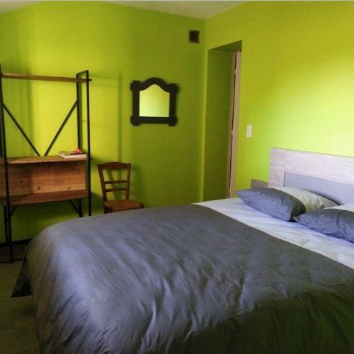 Chambre d'hote lit 2 places de 180 cm